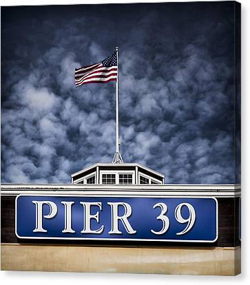 Historic Architecture Canvas Print - Pier 39 by Dave Bowman