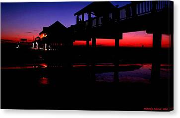 Canvas Print featuring the photograph Pier 60 In After Glow 2 by Richard Zentner