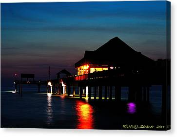 Canvas Print featuring the photograph Pier 60 In After Glow by Richard Zentner