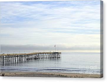 Pier Canvas Print by Gandz Photography