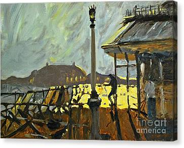 Pier At Brighton Canvas Print by Amy Fearn