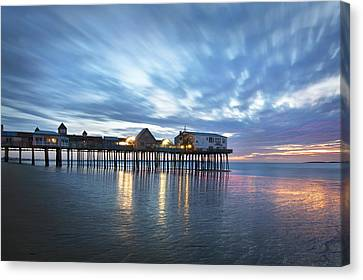 Pier At Dawn Canvas Print by Eric Gendron