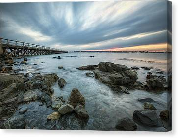 Pier At Dusk Canvas Print by Eric Gendron