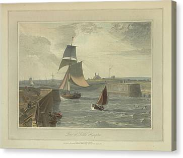 Pier At Littlehampton Canvas Print by British Library