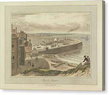 Pier At Margate Canvas Print by British Library
