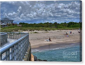 Pier At Sebastian Inlet Canvas Print