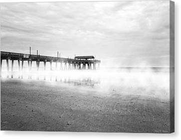 Pier At Tybee Island - Georgia Coast Canvas Print by Mark E Tisdale