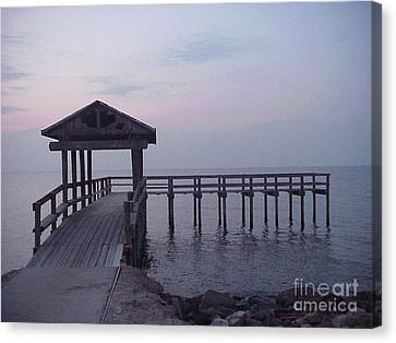 Pier Early Morning 1 Canvas Print by D Wallace