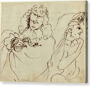 Pier Francesco Mola Italian, 1612 - 1666 Canvas Print
