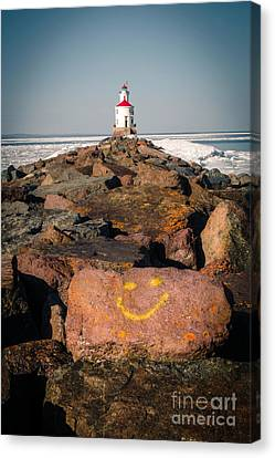Canvas Print featuring the photograph Pier Happiness by Mark David Zahn