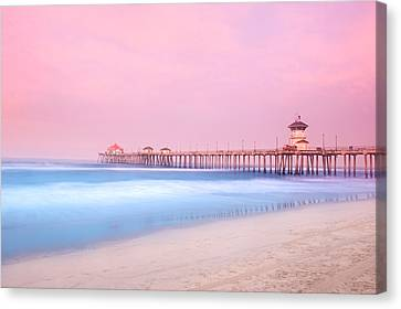 Pier In Early Morning Canvas Print