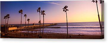 Pier In The Pacific Ocean, San Clemente Canvas Print by Panoramic Images