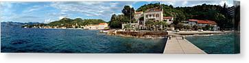 Pier In The Sea, Adriatic Sea, Lopud Canvas Print