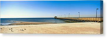 Pier In The Sea, Biloxi, Mississippi Canvas Print by Panoramic Images