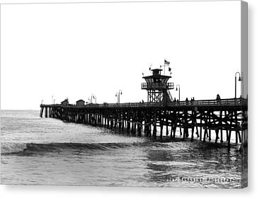 Pier Canvas Print by Joey  Maganini