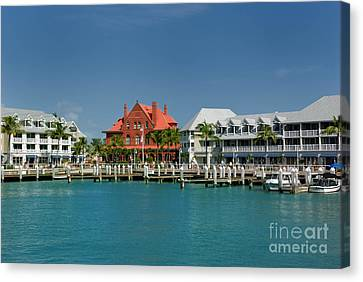 Pier Key West Florida Canvas Print by Amy Cicconi