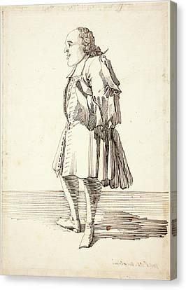 Pier Leone Ghezzi, Italian 1674-1755, Caricature Of A Male Canvas Print