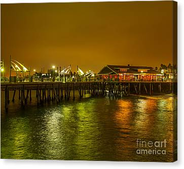Pier Lights Canvas Print