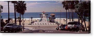 Local Canvas Print - Pier Over An Ocean, Manhattan Beach by Panoramic Images