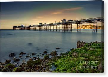 Pier Seascape Canvas Print by Adrian Evans