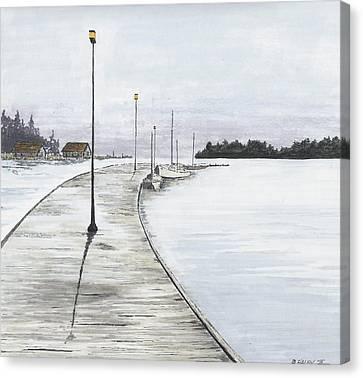 Pier Solitude Canvas Print by Dan Haley