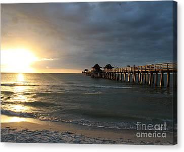 Pier Sunset Naples Canvas Print