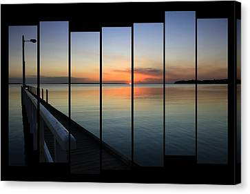 Pier View Sunset Canvas Print