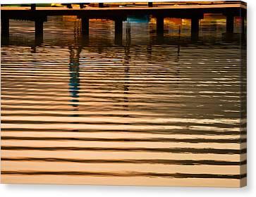 Pier Walk Canvas Print by Joan Herwig