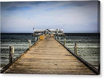 Pier Walkway Canvas Print