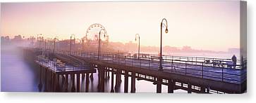 Pier With Ferris Wheel Canvas Print