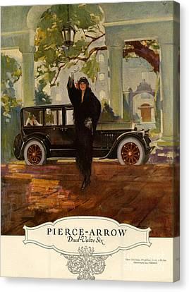 Pierce-arrow  1920s Usa Cc Cars Pierce Canvas Print by The Advertising Archives