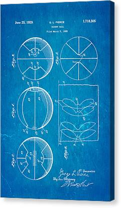 Pierce Basketball Patent Art 1929 Blueprint Canvas Print by Ian Monk