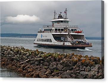 Pierce County Washington Ferry Canvas Print