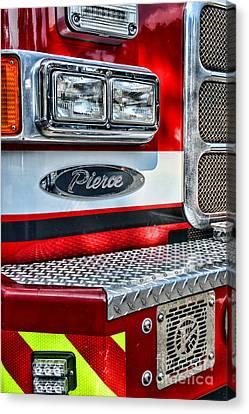 Pierce Fire Truck  Canvas Print by Paul Ward