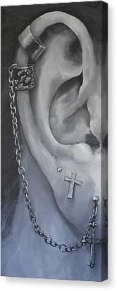 Pierced Ear Canvas Print