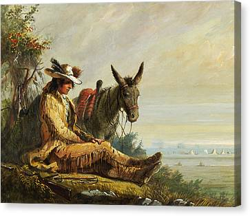 Pierre Canvas Print by Alfred Jacob Miller
