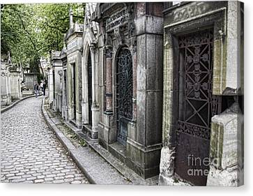 Pierre La'chaise Cemetery Canvas Print by Crystal Nederman