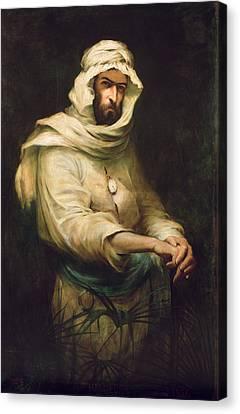 Pierre Savorgnan De Brazza 1852-1905 1886 Oil On Canvas Canvas Print by Henry Jones Thaddeus