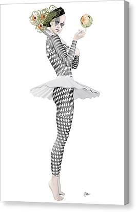 Pierrette Clown  Canvas Print by Quim Abella