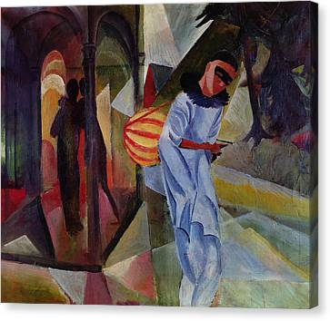 Pierrot, 1913 Oil On Canvas Canvas Print by August Macke
