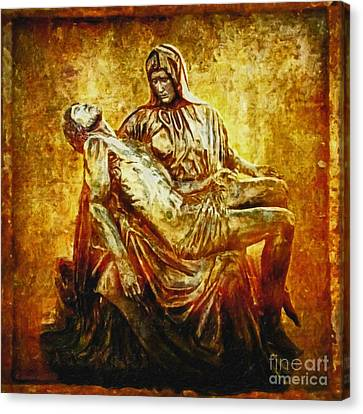 Pieta 2 Canvas Print by Lianne Schneider