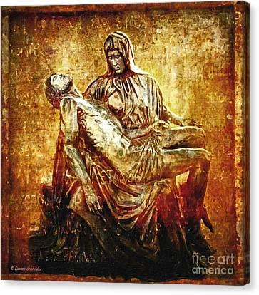 Pieta Via Dolorosa 13 Canvas Print