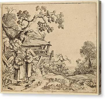 Pieter Molijn Dutch, 1595 - 1661, Woman Conversing Canvas Print by Quint Lox