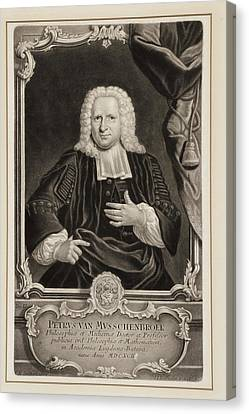 Pieter Van Musschenbroek Canvas Print by Gregory Tobias/chemical Heritage Foundation