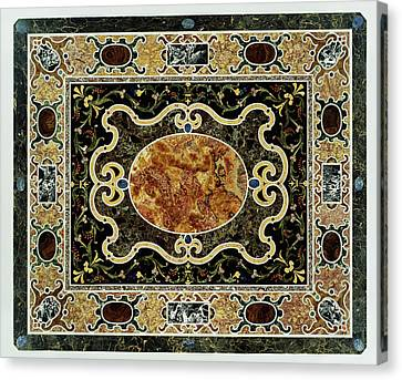 Pietre Dure Table Unknown Tabletop 1580 - 1600 Base 1825 Canvas Print