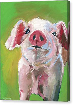 Pig Canvas Print by Anne Seay