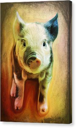 Pig Is Beautiful Canvas Print by Barbara Orenya