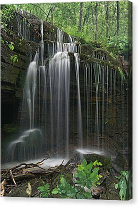 Pig Trail Falls Mulberry River Arkansas Canvas Print