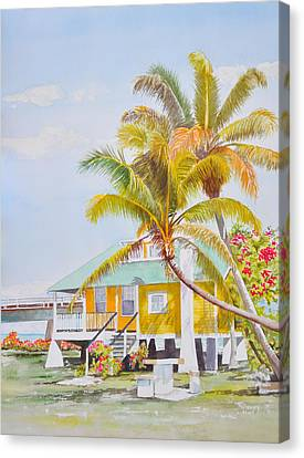 Pigeon Key - Home Canvas Print by Terry Arroyo Mulrooney