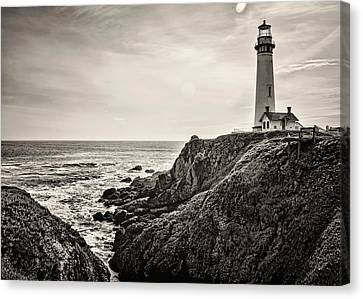 Pigeon Point Light Canvas Print by Heather Applegate